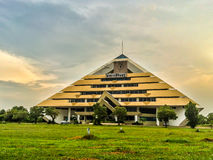 Sirindhorn Building at KMUTNB. Sirindhorn Building of King Mongkut's University of Technology North Bangkok in Prajeenburi at Thailand royalty free stock photos