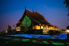 Sirindhornwararam-Tempel wat Phu Prao, Anziehungskräfte bei Ubon Ratchathani, Thailand stockbilder