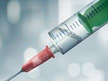 Siringa e penicillina Immagine Stock