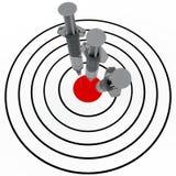 Siringa ed obiettivo Fotografia Stock