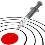 Siringa ed obiettivo Fotografia Stock Libera da Diritti