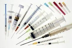Siringhe mediche Fotografia Stock