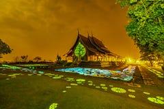 Sirinthorn Wararam Phu Phrao tempel royaltyfria bilder