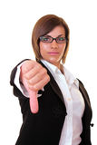 Sirious businesswoman  holding thumbs down Royalty Free Stock Images