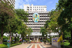 Siriraj Hospital. Bangkok, Thailand - June 13, 2015: Siriraj Hospital on the Chao Phraya River, one of the oldest and the most famous hospital in Thailand, it Stock Photography
