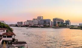 Siriraj szpitala A ważny rządowy szpital w Bangkok, Tajlandia obraz stock