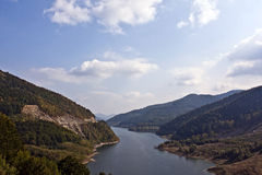 从Siriu湖的美好的风景 免版税图库摄影