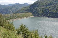 Siriu lake dam Royalty Free Stock Photos