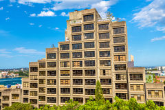 Sirius,一个野兽派样式公寓住宅区在悉尼,澳大利亚 在1980年修造 库存图片