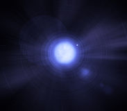 Sirius binary star - White dwarf and big star Stock Photos