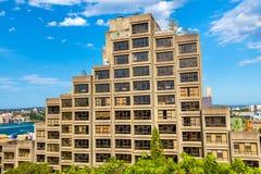 Sirius, un complesso condominiale di stile del brutalist a Sydney, Australia Costruito nel 1980 Immagine Stock