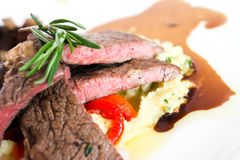 Sirloin beef steak Royalty Free Stock Photo