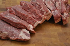 Sirloin Beef Steak. On Wood Copping Board Stock Image