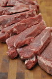 Sirloin Beef Steak. On Wood Copping Board Stock Photography