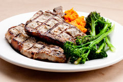 Sirloin pork chops Royalty Free Stock Photos