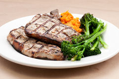 Sirloin pork chops Royalty Free Stock Image