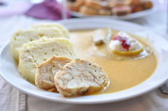 Sirloin sauce czech Royalty Free Stock Photo