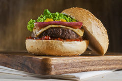 Free Sirloin Steak Burger Stock Photography - 49996082