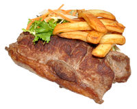 Sirloin Steak And Chips Royalty Free Stock Photo