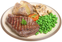 Sirloin Steak Dinner Royalty Free Stock Photography