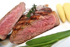 Sirloin Steak Dinner Royalty Free Stock Photos