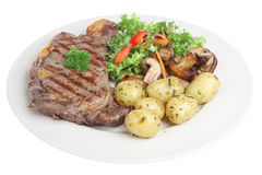 Sirloin Steak Dinner Stock Photography