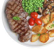 Sirloin Steak Dinner Stock Images