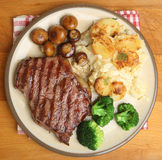 Sirloin Steak Dinner Royalty Free Stock Photo