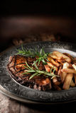 Sirloin Steak with French Fries II Stock Images