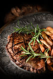 Sirloin Steak with French Fries III Royalty Free Stock Image