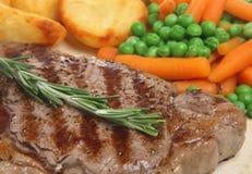 Sirloin Steak Meal Stock Image