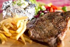 Sirloin steak meal Royalty Free Stock Image