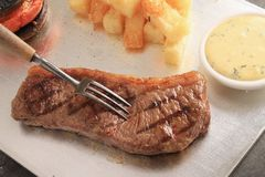 Sirloin steak meal Royalty Free Stock Photography