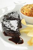 Sirloin steak meal Royalty Free Stock Image