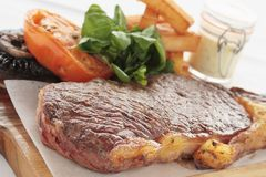 Sirloin steak meal Stock Images