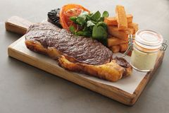 Sirloin steak meal Royalty Free Stock Photo