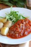 Sirloin steak with potatoes Stock Image
