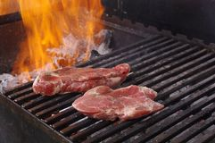 Sirloin steak prepared on the barbecue grill. Stock Image