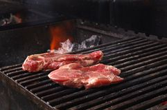 Sirloin steak prepared on the barbecue grill. Royalty Free Stock Image