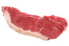 Sirloin Steak Raw Isolated. A raw sirloin steak isolated on white Stock Photography