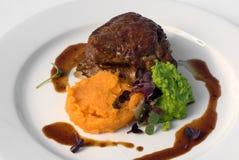 Sirloin Steak with Sweet Potato Royalty Free Stock Photography