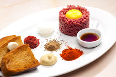 Sirloin steak tartare Royalty Free Stock Image