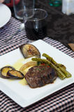 Sirloin strip Steak - entrecote Stock Photo