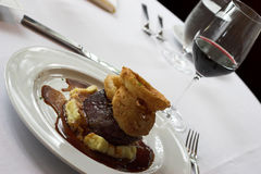 Sirloin and wine Royalty Free Stock Image