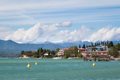 Sirmione. Photo of the sunny Sirmione at Lake Garda Stock Photo