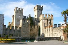 Sirmione castle Royalty Free Stock Images
