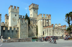 Sirmione castle Stock Image