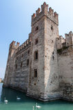 Sirmione Castle and Harbour Stock Photo