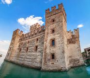 Sirmione castle on Lake Garda, Italy Royalty Free Stock Photography