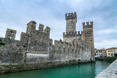 Sirmione castle on Lake Garda, Italy Royalty Free Stock Photos